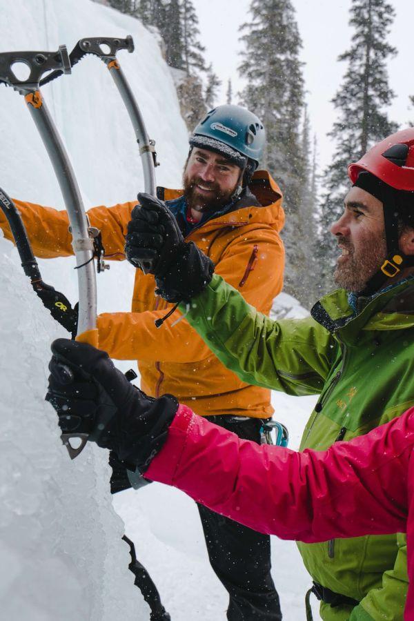 Ice Climbing with Rockaboo Mountain Adventures