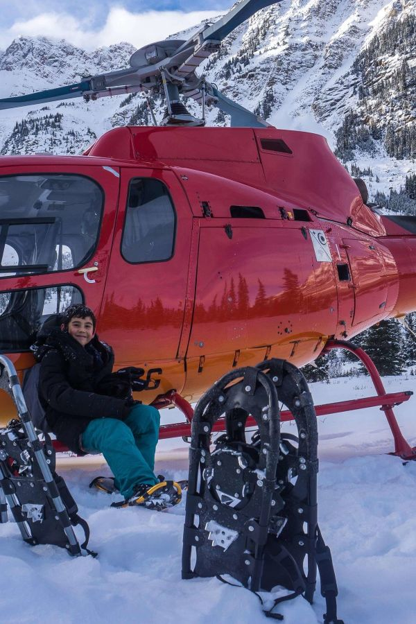 Heli-Snowshoe and Abraham Lake Tours with Rockies Heli Canada