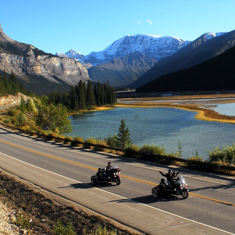 Tour Jasper's most scenic roads with Jasper Motorcycle Tours