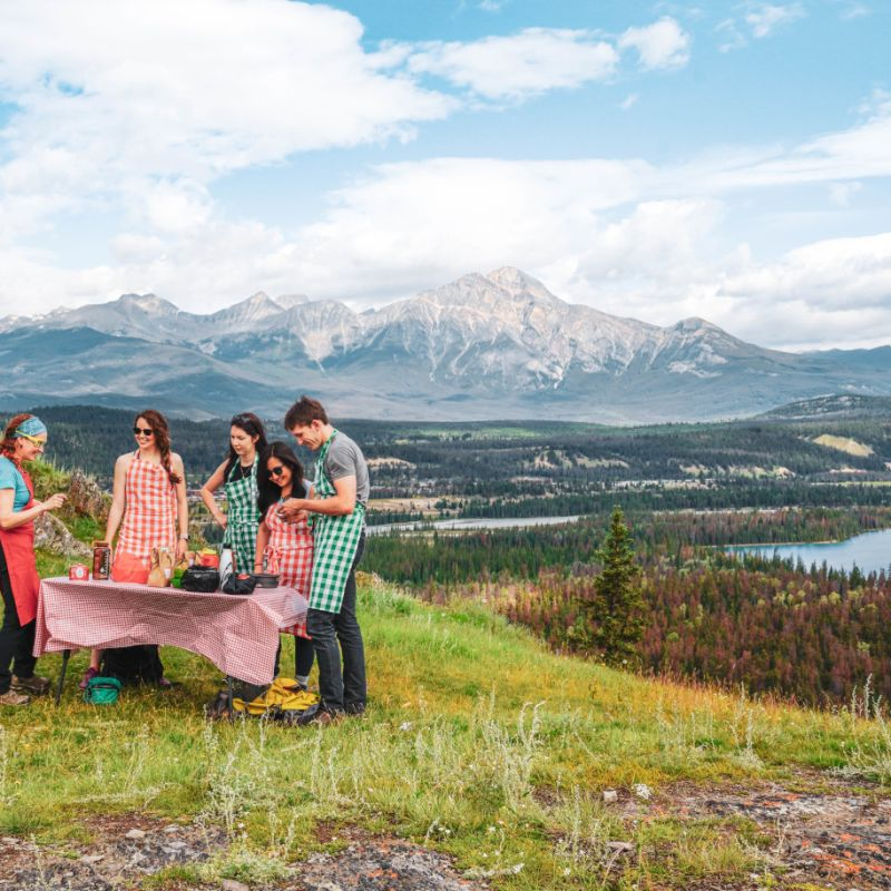 Enjoy a Panoramic Mountain-Top Feast with Jasper Food Tours